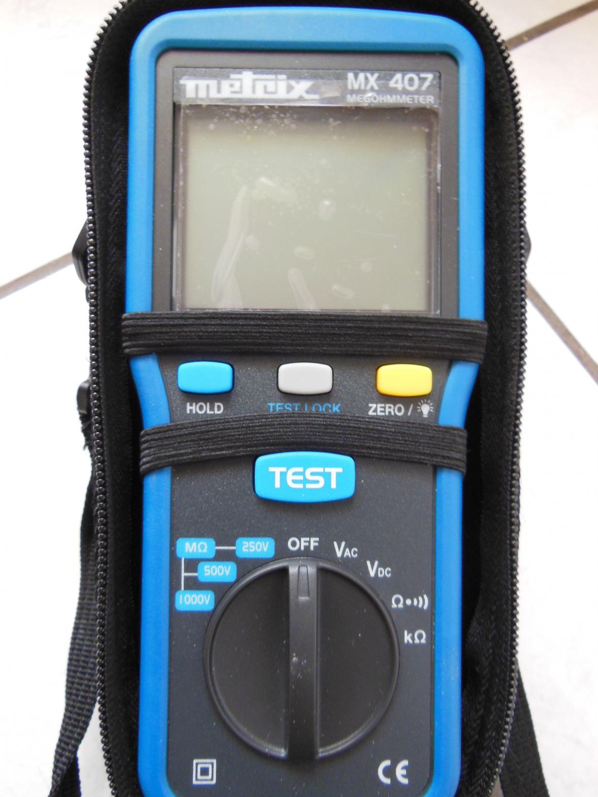 électricien à Montluçon : outils de diagnostic électrique megohmmetre
