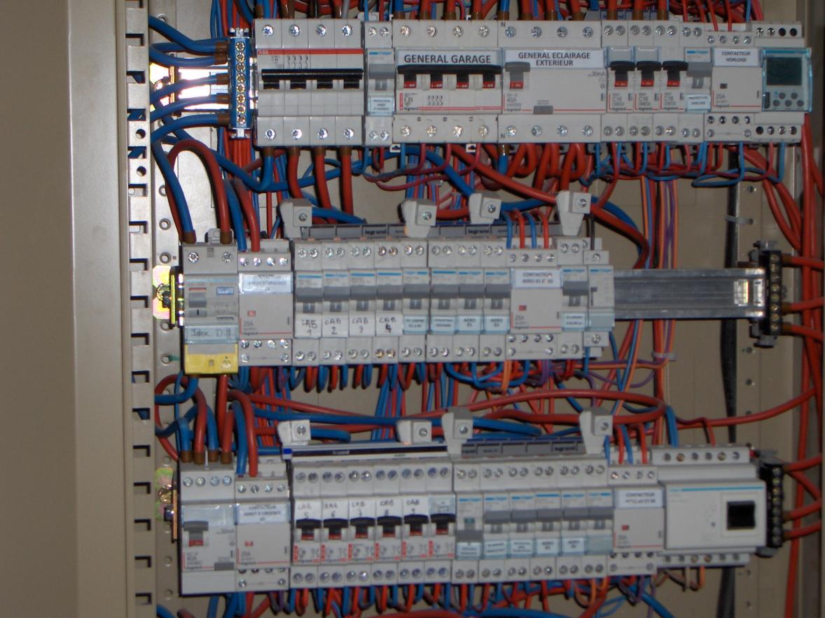 électricien Montluçon Prémilhat :  tableau électrique petit atelier
