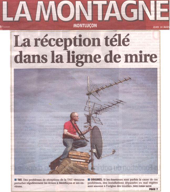 Avis d'un antenniste sur les problèmes de réception de la TNT à Montluçon